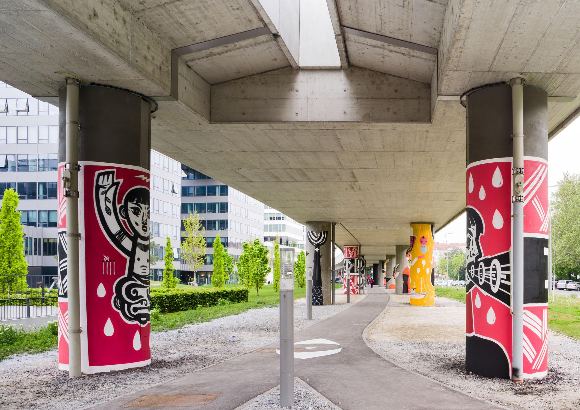 Speto, 3 Brothers. Installation, U2-Station Krieau, Wien © Inoperable Gallery
