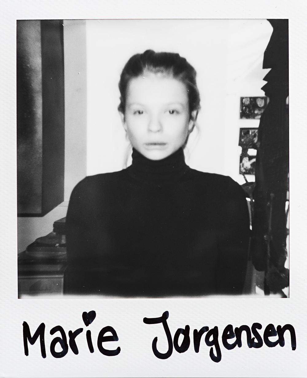 portraits and interviews of fashion models Marie J¿rgensen